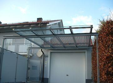 Vordächer Dach mit Glas